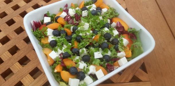 abrikossalat med blåbær og feta copy